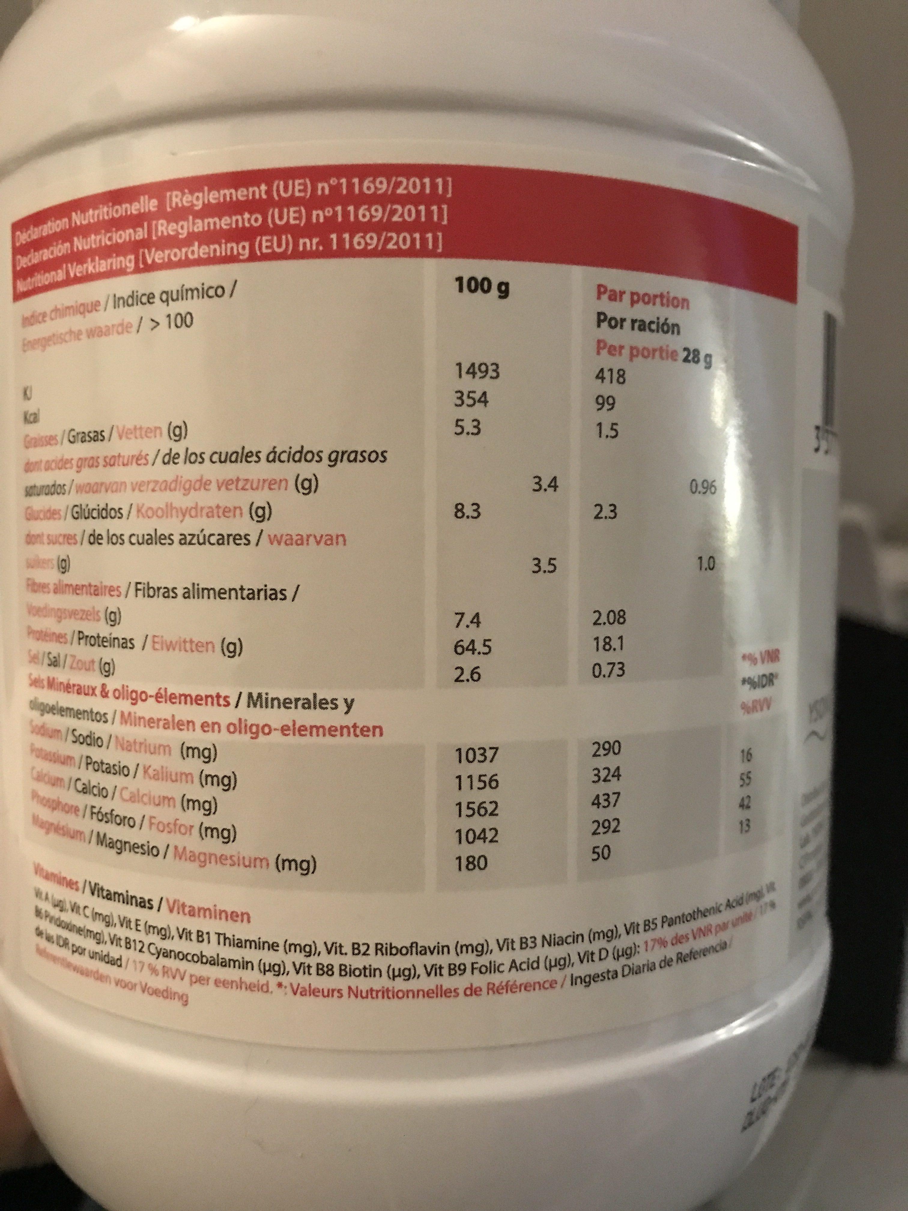 Protéifine Boisson Cacao Pot De 400G Ysonut - Ingrédients - fr