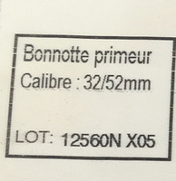 Bonnotte primeur - Ingredients