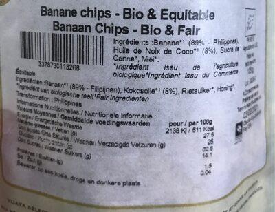 Banane Chips - Valori nutrizionali - fr