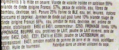Cordon Bleu de Volaille - Ingredients