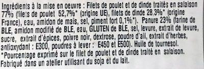 Escalope de Poulet Panure Fine et Croustillant - Ingrédients