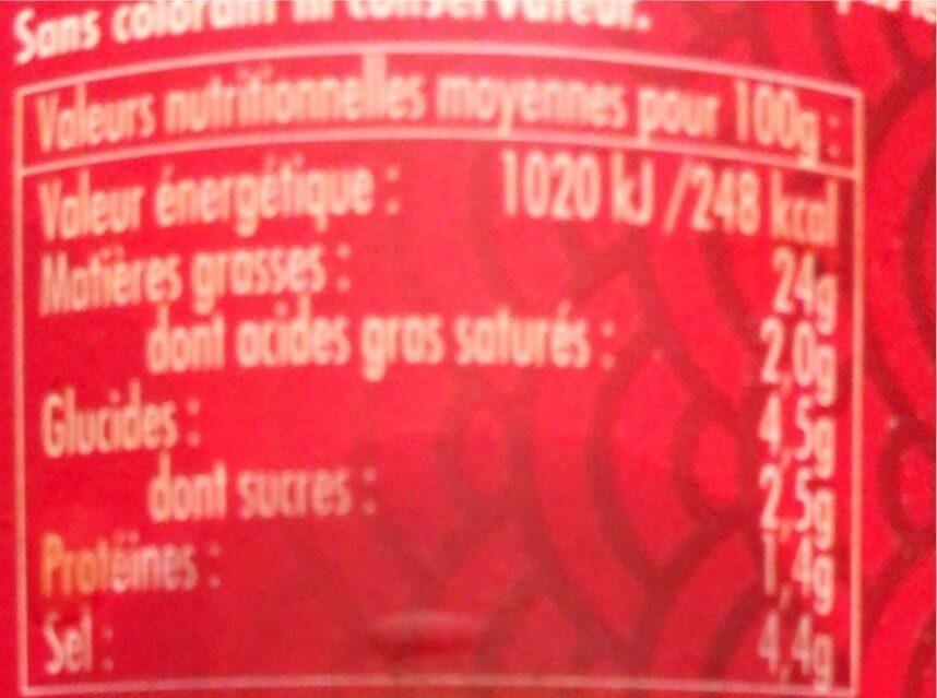 Achards de légumes - Nutrition facts - fr