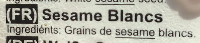 Sésame Blancs - Ingrédients - fr
