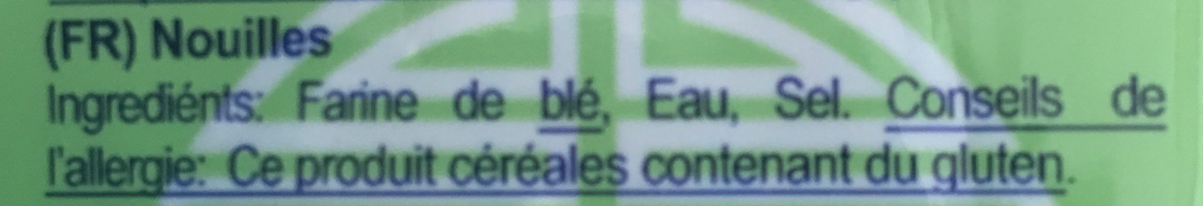 Nouilles De Blé Séchées - Ingrediënten