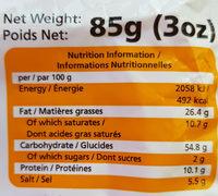 Nouilles instantanées au goûtde  boeuf - Valori nutrizionali - fr