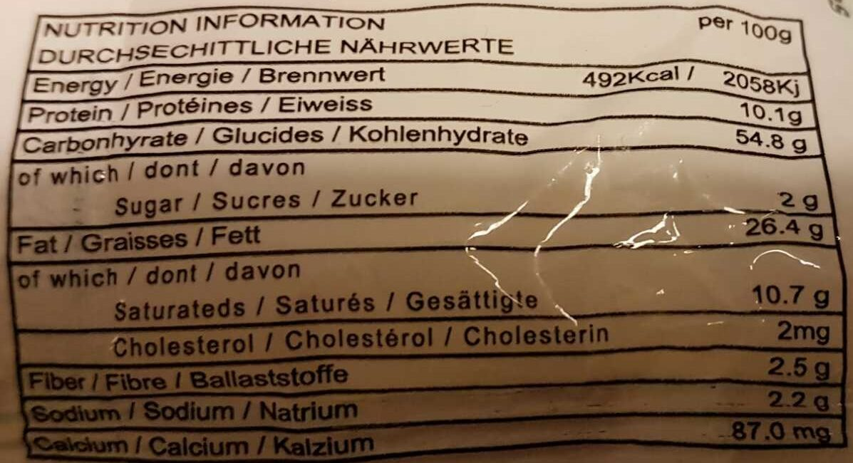 Nouilles instantané Saveur Poulet - Informations nutritionnelles - fr