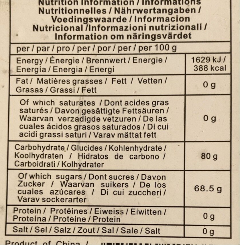 Grain Boxphorn 200G - Valori nutrizionali - fr