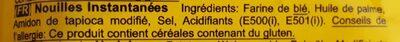 Instant noodles - Ingredients