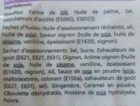 Nouilles Instantanées Saveur Oignon - Ingrédients - fr