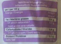 Nouilles Instantanées Saveur Oignon - Informations nutritionnelles - fr