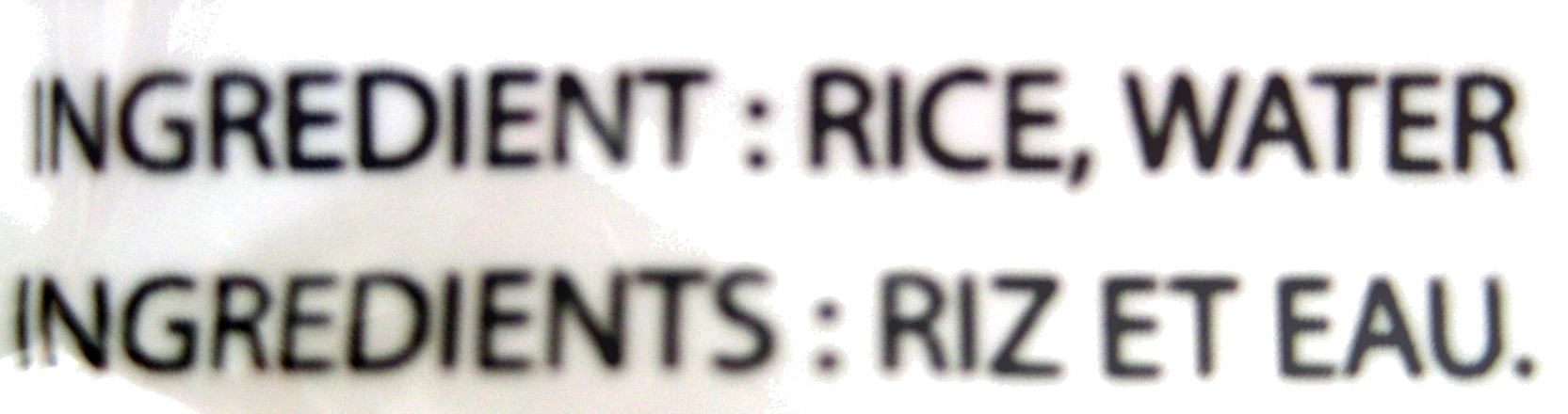 Vermicelle de riz - 400 g - Ingredients - fr