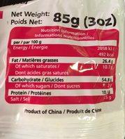 Noodles crab - Informations nutritionnelles