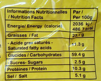Nouilles instantanées saveur Boeuf - Informations nutritionnelles - fr