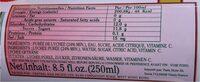 Boisson au lychee - Nutrition facts - fr