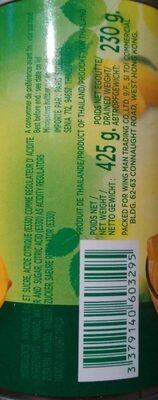 Mangue Au Sirop TWIN ELEPHANTS 425G - Nutrition facts - fr