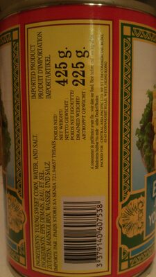 Épis de maïs jeune au naturel - Ingredienti - fr