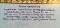 Beignets de crevettes prêts à cuire - Ingrédients - fr