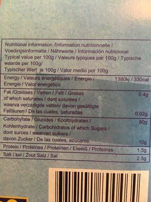 Beignets de crevettes prêts à cuire - Informations nutritionnelles - fr