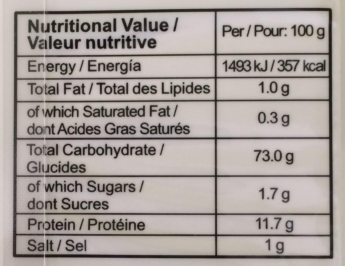 Nouilles Japonaises - Valori nutrizionali - fr