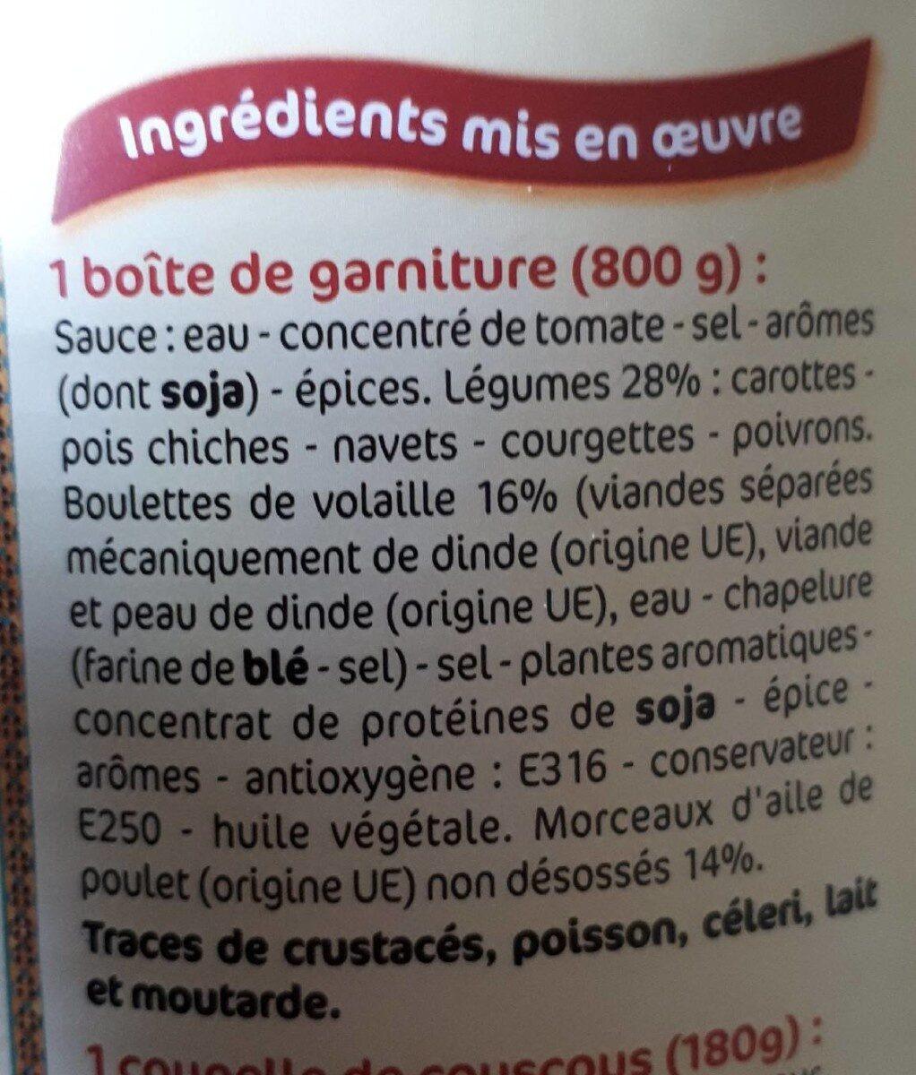 Couscous à la volaille & aux légumes (2-3 personnes) - Ingrediënten - fr