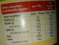 Couscous à la volaille & aux légumes (2-3 personnes) - Voedingswaarden - fr