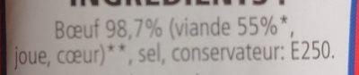 Corned beef - Ingrédients