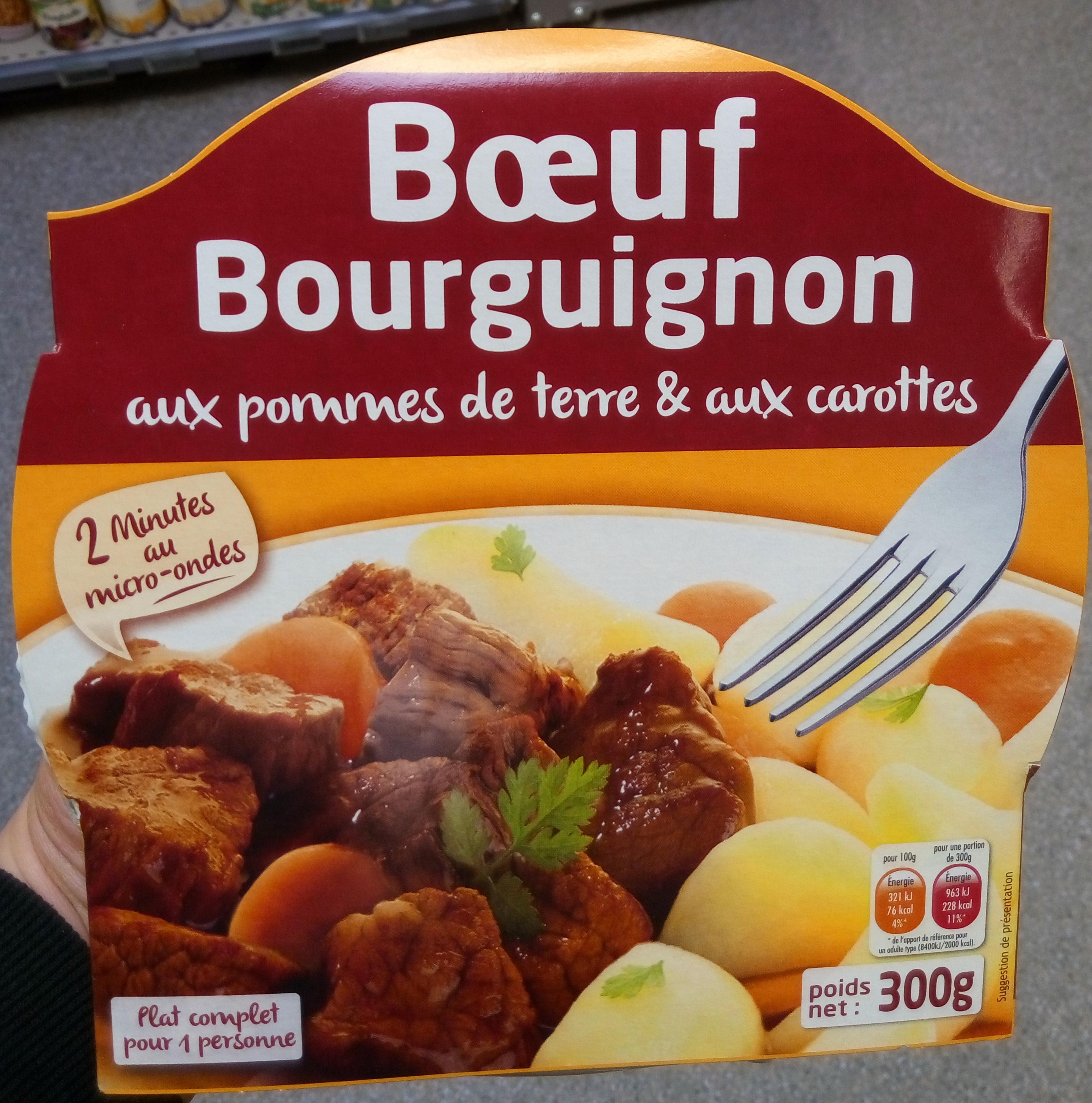 Boeuf Bourguignon aux pommes de terre et aux carottes - Produit - fr