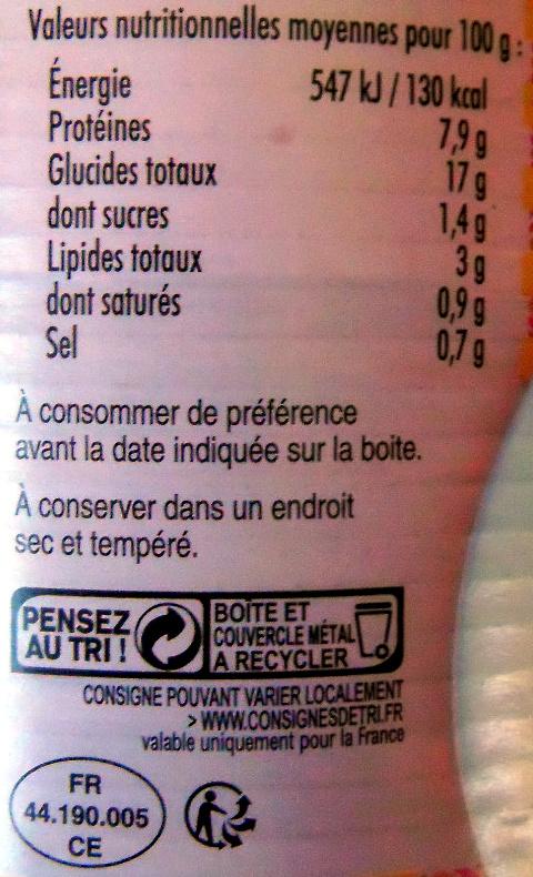 Couscous volaille et boeuf - Voedingswaarden - fr