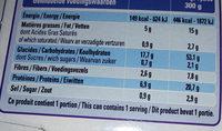 Paul & Louise Barquette Paella Poulet et Fruits de Mer 300 g - Informations nutritionnelles