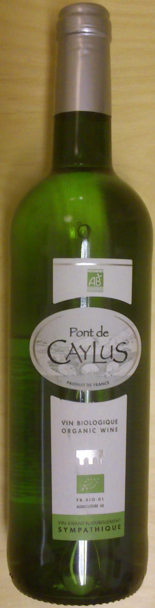 Vin blanc Pont de Caylus - Product