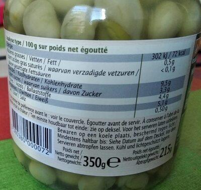 Feves - Informations nutritionnelles - fr
