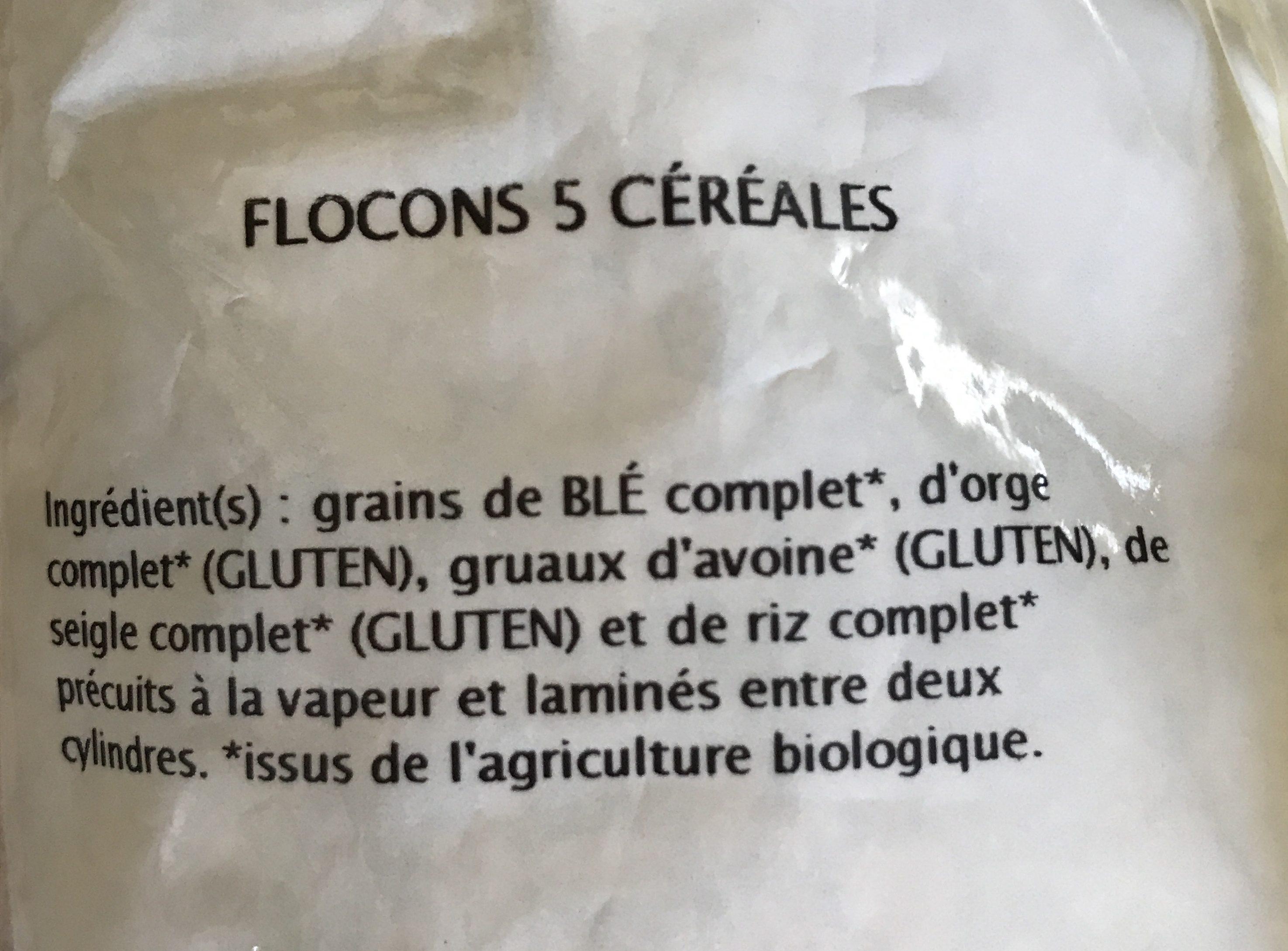 Flocons 5 cereales - Ingrediënten - fr