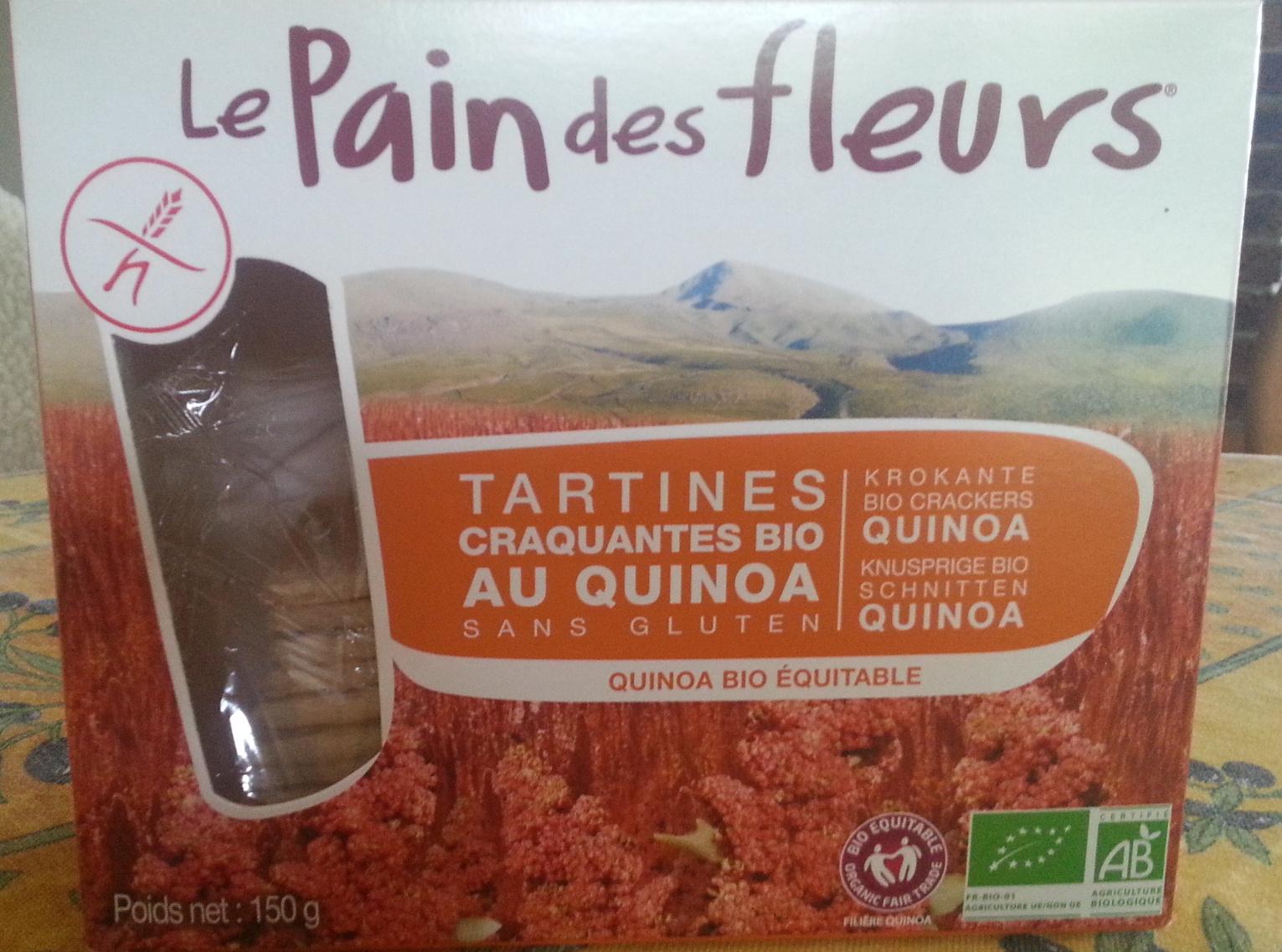 Tartines craquantes bio au Quinoa sans gluten - Produit