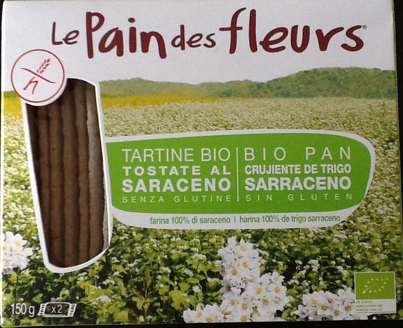 """Tostadas ecológicas """"Le Pain des Fleurs"""" Trigo sarraceno - Product"""