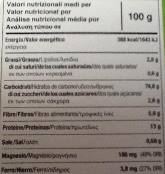 "Tostadas ecológicas ""Le Pain des Fleurs"" Trigo sarraceno - Nutrition facts"