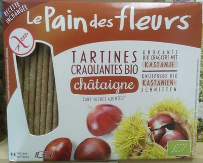 Tartines craquantes bio à la châtaigne sans gluten - Product