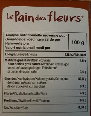 Tartines craquantes bio à la châtaigne sans gluten - Ingrédients - fr