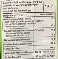 Tartines craquantes au sarrasin - Informations nutritionnelles