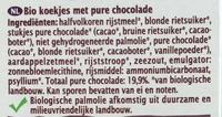 Cookies bio au chocolat noir - Ingrediënten - nl