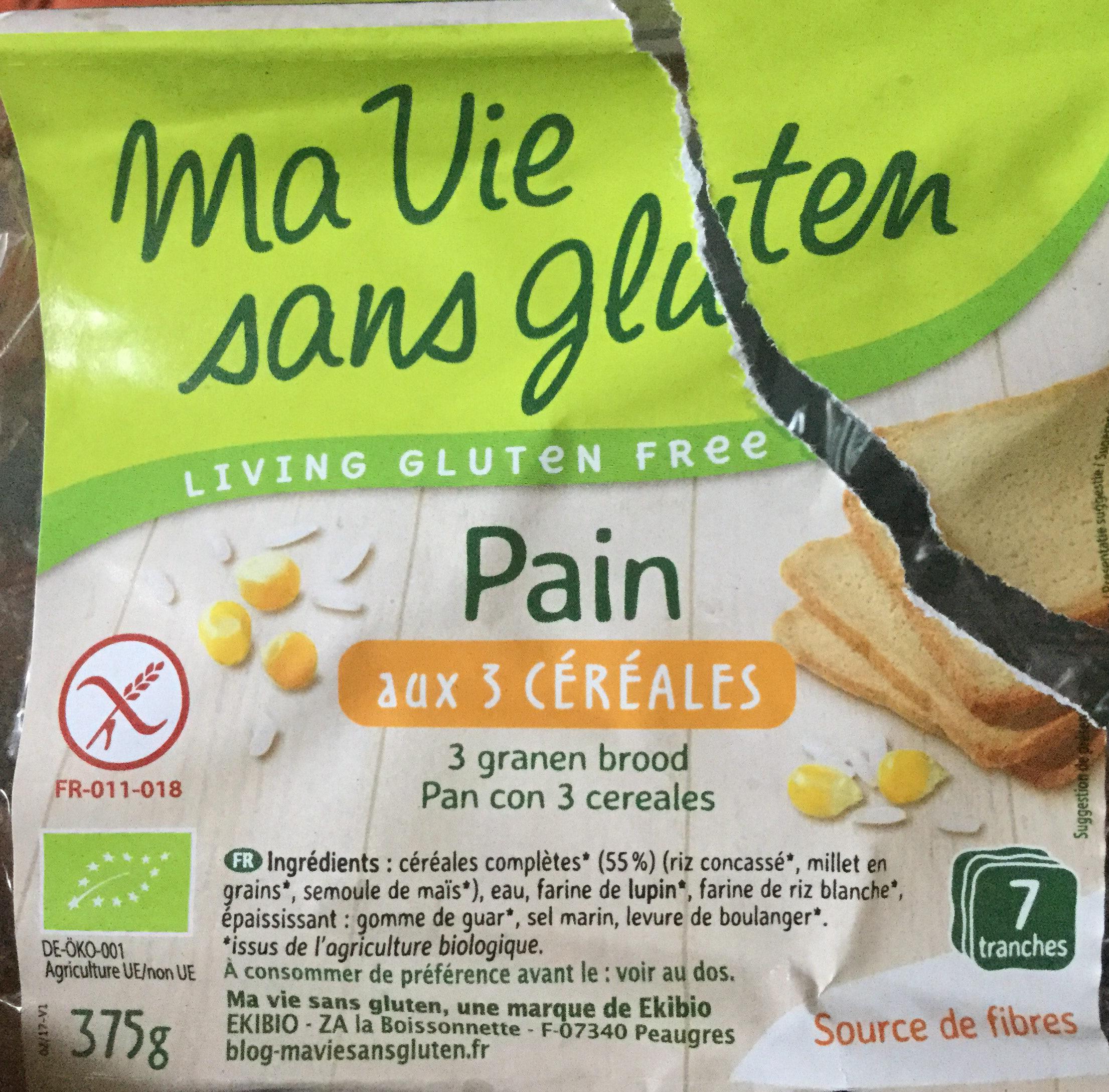Pain bio 3 céréales prétranché - Product