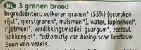Pain bio 3 céréales prétranché - Ingrediënten