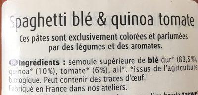 Epicerie / Céréales, Graines, Pâtes, Riz / Pâtes Aux Céréales - Ingrediënten