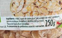 Corn flakes glacés bio - Ingrédients - fr