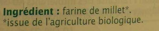 Farine bio de millet - Ingrediënten - fr