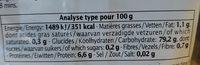 Riz de Camargue IGP Long Blanc - Informations nutritionnelles - fr