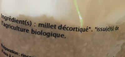 Millet - Ingredients