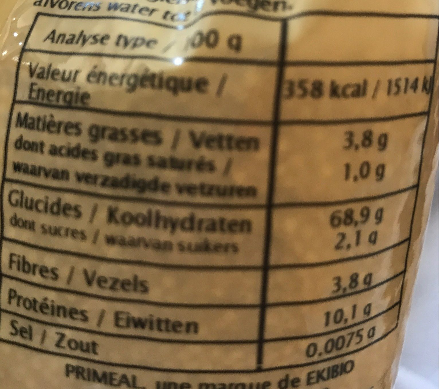 Millet - Nutrition facts