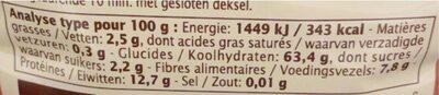 Boulgour Petit Épeautre - Informations nutritionnelles - fr