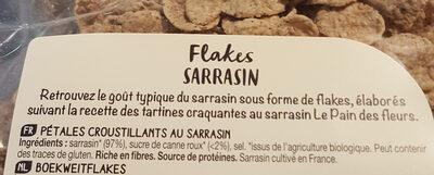 Flakes Au Sarrasin - Ingrédients - fr