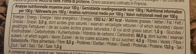 Flakes Au Sarrasin - Informations nutritionnelles - fr